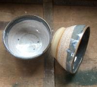 Blue grey bowls