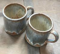 Blue grey mugs